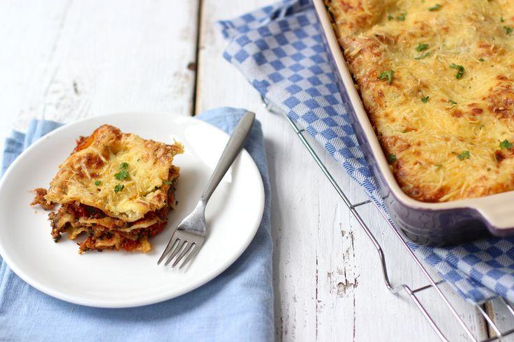 Lasagne met spinazie en pesto