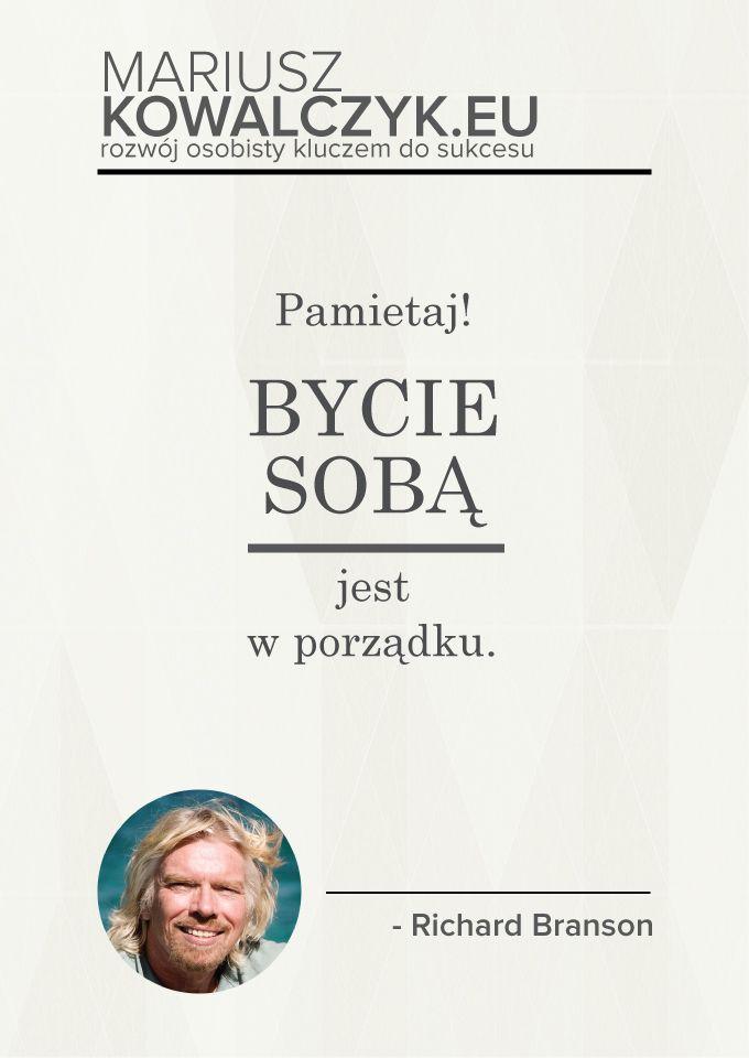 Remember it's OK to be yourself www.blog.mariuszkowalczyk.eu