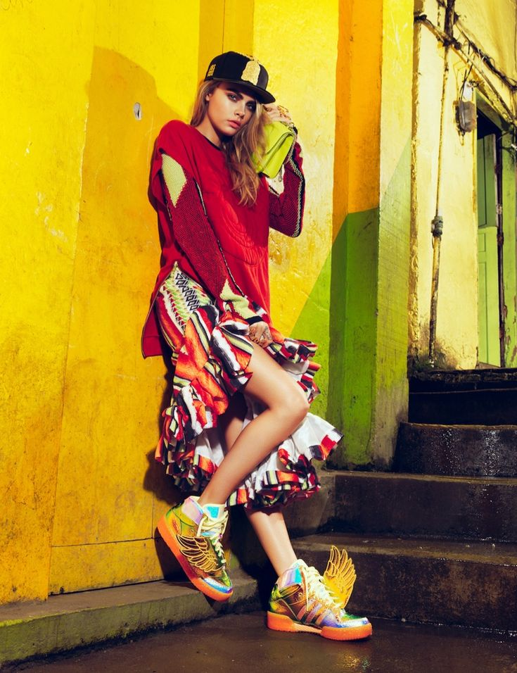 cara jacques dequeker7 Cara Delevingne Hits the Streets for Vogue Brazil Spread