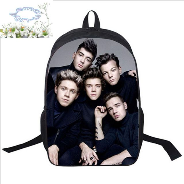 Good price 16Inch Polyester Backpack Free Add Logo+Customized Free Shipping One Direction Travel School Bag Mochila Teenage Boys Girls A027 just only $21.05 with free shipping worldwide  #backpacksformen Plese click on picture to see our special price for you