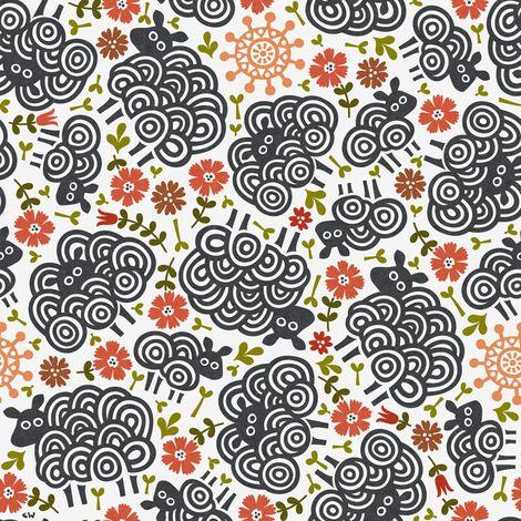 Black Sheep Sanctuary fabric by christinewitte on Spoonflower - custom fabric