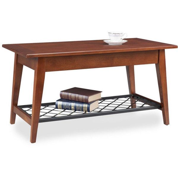 KD Furnishings Condo/Apartment Coffee Table ($193) ❤ liked on Polyvore featuring home, furniture, tables, accent tables, brown, brown table, brown shelves, woven furniture, storage shelving and storage shelf
