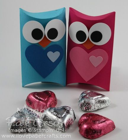 Pillow box owl  from www.ilovepapercrafts.com