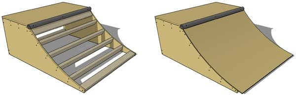 skate board ramp. gonna use this tutorial to make a slide for my playroom!