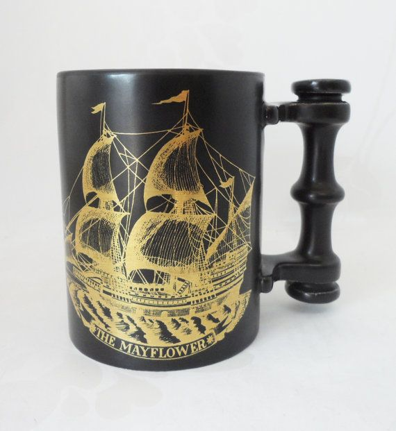Portmeirion Pottery Mayflower Coffee Mug by BelieveToBeBeautiful