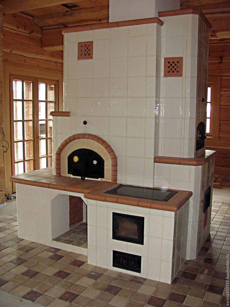 Купить Печка с иголочки (печь три в одном) - белый, изразцы, печь, русская печь