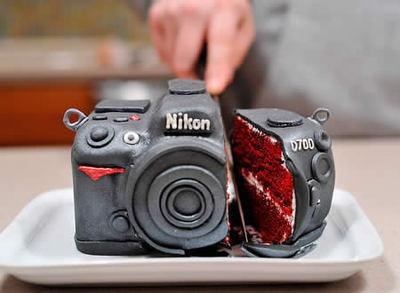 Tarta fotografica. photographic cake
