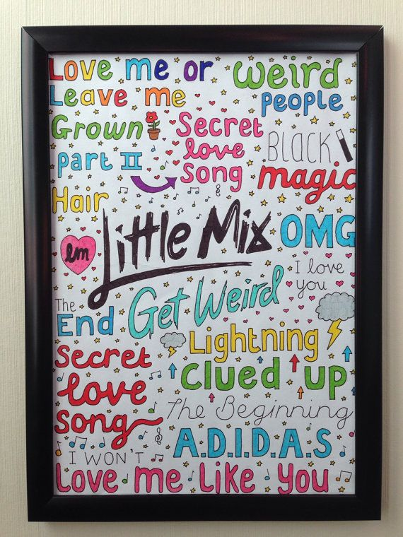 Hey, I found this really awesome Etsy listing at https://www.etsy.com/pt/listing/250262663/little-mix-collage-get-weird