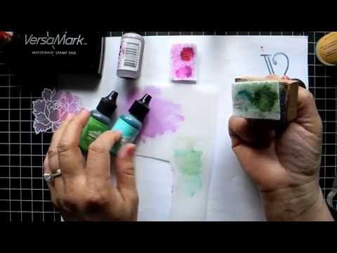 Floral Cards with Alcohol Inks and Vellum - YouTube