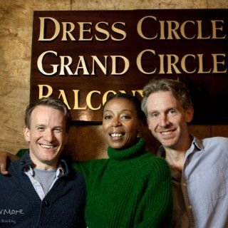 Harry Potter and the Cursed Child cast photo: Jamie Parker, Noma Dumezweni and Paul Thornley. Photo by Simon Annand