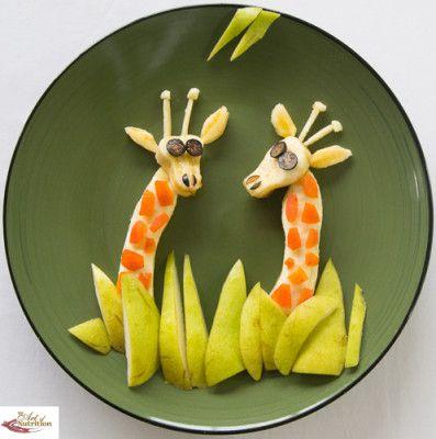 Healthy food giraffe - /sunpride/fruit-art/ BACK over 500? (Bananas, Apricots, Pears, Blueberries)