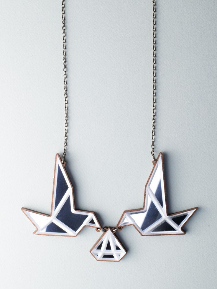 Mirror Birds Necklace - Carla Szabo