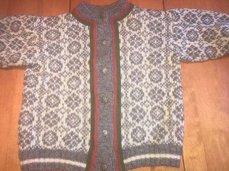 vtg A.S Evebofoss Norwegian Sweater Nordic Cardigan wool Petite M / 38 EUC! #ASEvebofoss #Cardigan