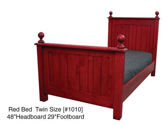 Twin Size Bed / Cottage Chic Bed / Rustic by HarvestTreasuresInc