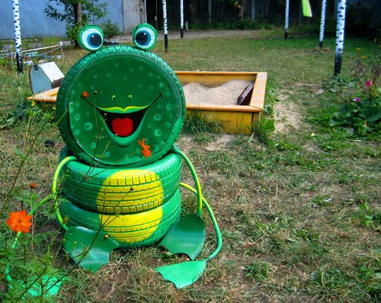DIY Ideas To Repurpose Old Tire Into Animal Shaped Garden Decor Old