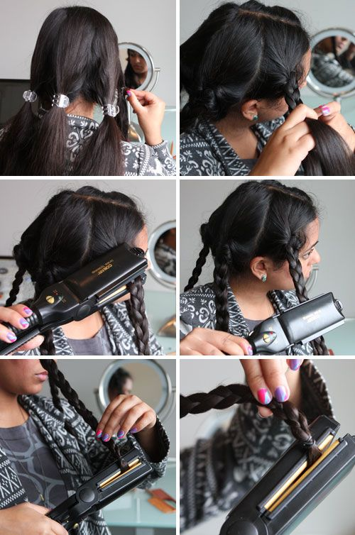 Beauty Hack! Flat Iron Your Braids to Make Waves via Brit + Co.