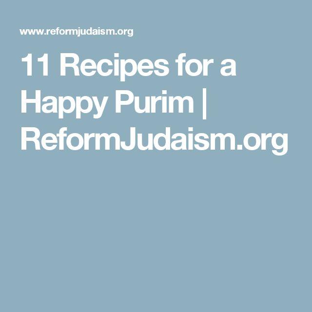 11 Recipes for a Happy Purim | ReformJudaism.org