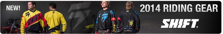 2014 Shift Gear | Rocky Mountain ATV/MC #shift #shiftmx #motocrossgear #motocross #mx #dirtbikes #atvs #utvs #trackfashion #2014