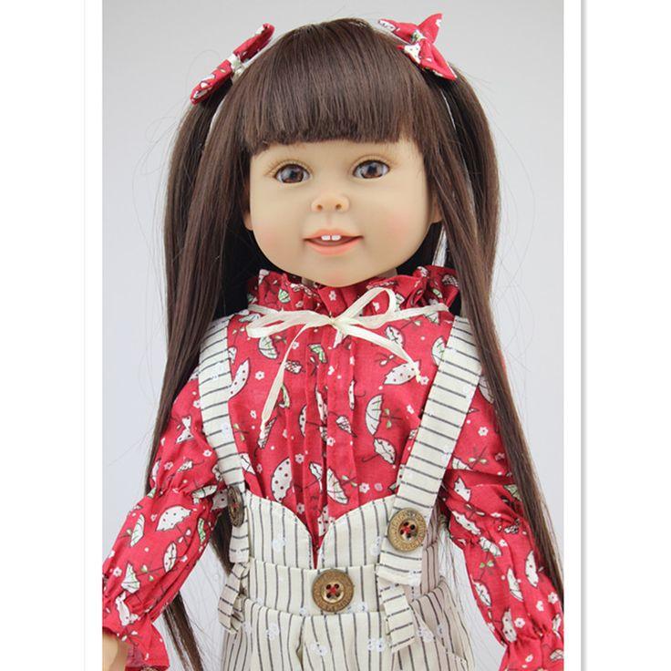 Купить товар45 см/18 Дюймов American Girl Куклы Игрушки для Детей На День Рождения Подарков, Пластиковые Возрождается Куклы Младенцы Девушки кукла Мягкие Игрушки в категории  на AliExpress.  45 см/18 Дюймов American Girl Куклы Игрушки для Детей На День Рождения Подарков, Пластиковые Возрождается Куклы Младенц