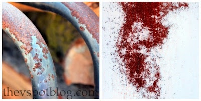how to create a faux rust effect with spray paint and salt