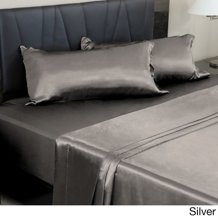 Stylish, comfortable, and remarkably soft, this sheet set features a silky-smooth polyester satin that's just as easy to sleep in as it is to look at. With all the pieces you need to complete your bed