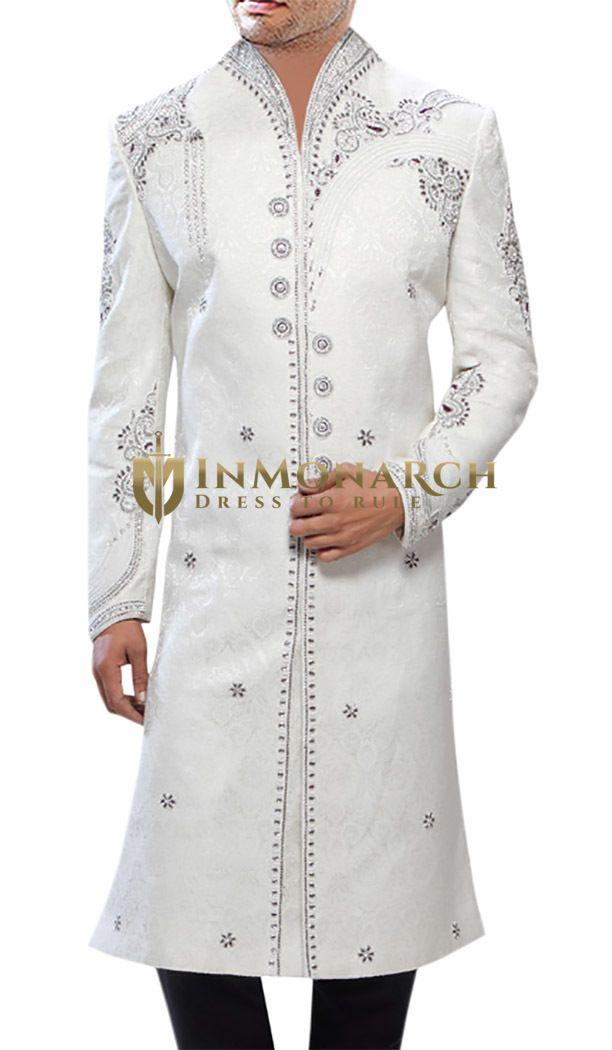 Classic Designer White Sherwani #ethnic wears for #men