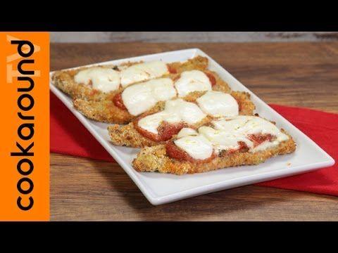 Fettine panate al forno con mozzarella e pomodoro / Cotolette non fritte - YouTube