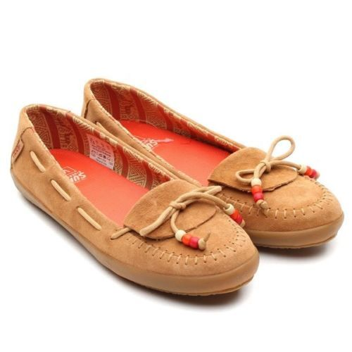 Vans-ALPACA-Apple-Cinnamon-Leather-Moccasin-Classic-Slip-Flat-Womens-SIZE-US-6-5 $52 FREE US SH