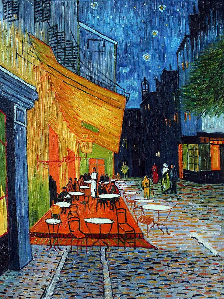 Cafe Terrace At Night In 2019 All Around Interesting