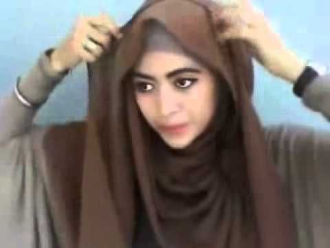 Tutorial Cara Memakai Jilbab hijab Segi Empat Modern 2014 #14