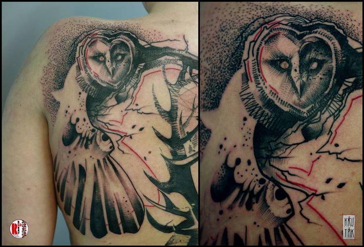 Redberry Tattoo Studio Wrocław #tattoo #inked #ink #studio #wroclaw #warszawa #tatuaz #gdansk #redberry #katowice #sosnowiec #bielskobiala #berlin #poland #krakow #krutak #labrujaproject #portrait #portret #kobieta #ethnic #etno #project #sowa #owl #ptak #bird