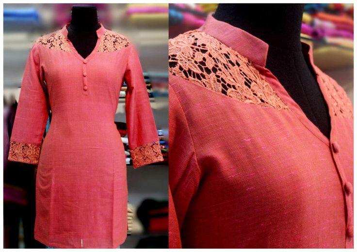 Kurti which has Lace Pattern