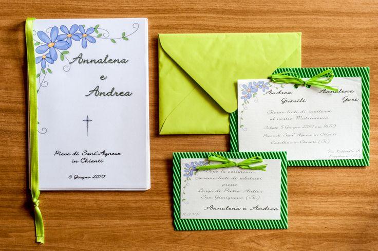 Set Matrimonio Primavera Partecipazione, invito e Libretto Messa