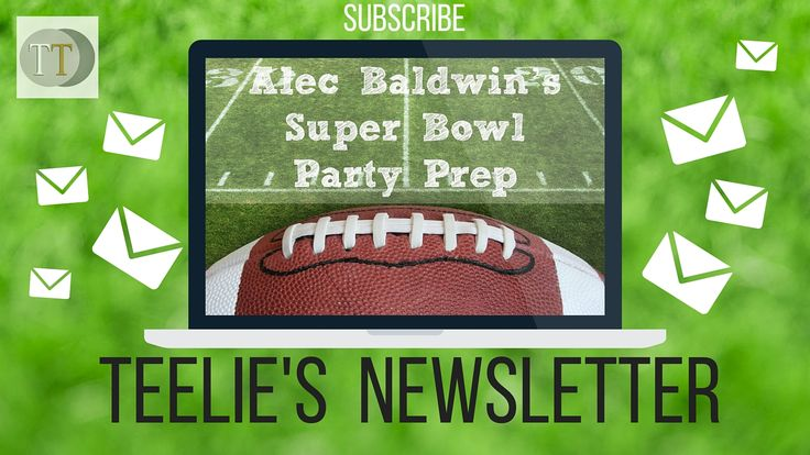 This is our Super Bowl Game Day newsletter edition! www.teelieturner.com It's almost here-do you have all your Super Bowl parties planned? We have some great ideas for you below and even Alec Baldwin's epic party planning agenda with Alexa. Make sure to watch the first Amazon Super Bowl commercial featuring the Amazon Echo and Alec Baldwin with Dan Marino. Hope you all have a Great Time at the Game! #teelienewsletter