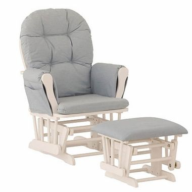 This is a great glider and is pretty comfortable to sit in.  It's quiet, and looks nice.