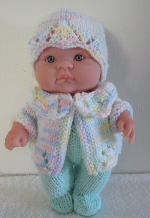 Knitting Pattern Berenguer Baby Doll Lace Pram Set for the