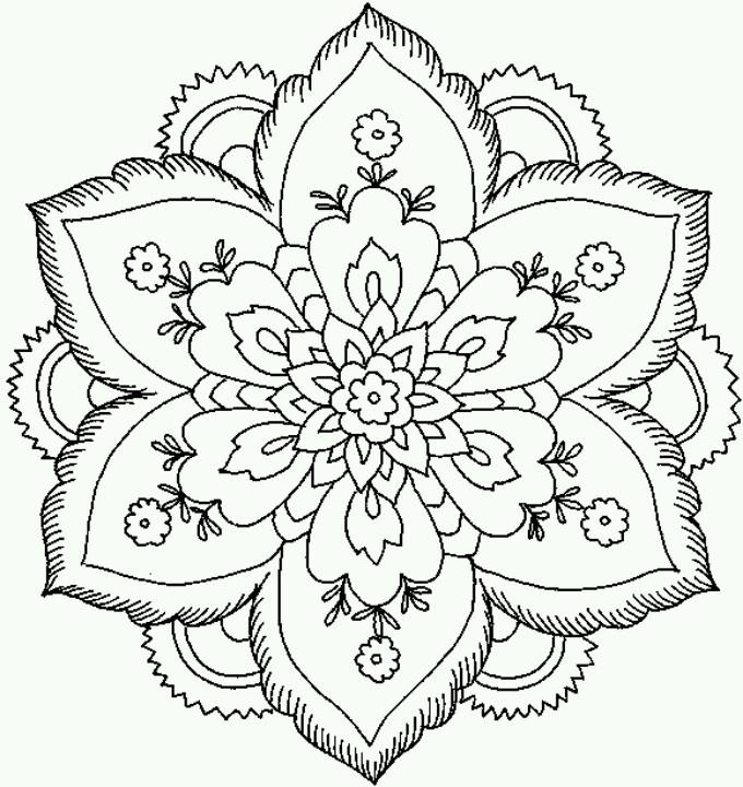 Epic Mandala Coloring Books 63 Hard Flower Coloring