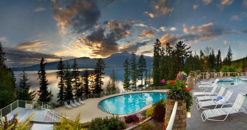 Halcyon Hot Springs in Nakusp, BC, Canada...photo by Lee Orr Photography