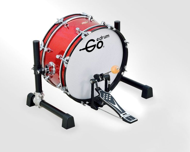 "18 inch Electronic Bass Drum with Stand Without Pedal 18"" Kick Drum Mesh Head 