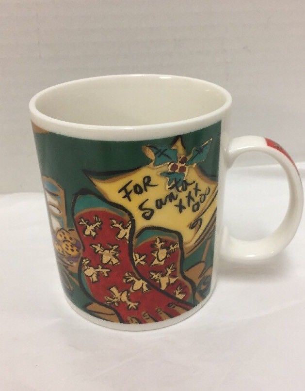 Chaleur Christmas Coffee Mug For Santa Milk Cookies Tree