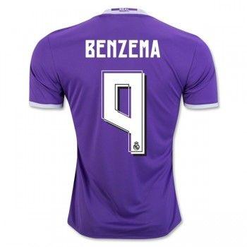 Real Madrid 16-17 Karim Benzema 9 Bortatröja Kortärmad   #Billiga  #fotbollströjor