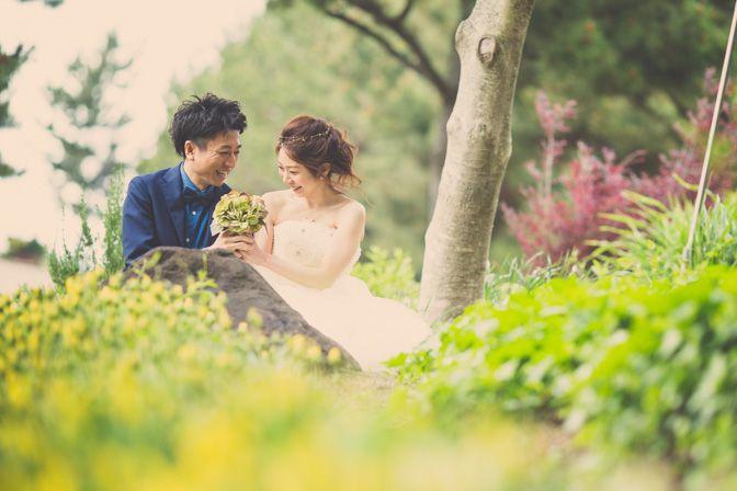 結婚式の【前撮り】と【エンゲージ】を海と森で1日で撮影! - 結婚式の写真撮影 ウェディングカメラマン寺川昌宏(ブライダルフォト)
