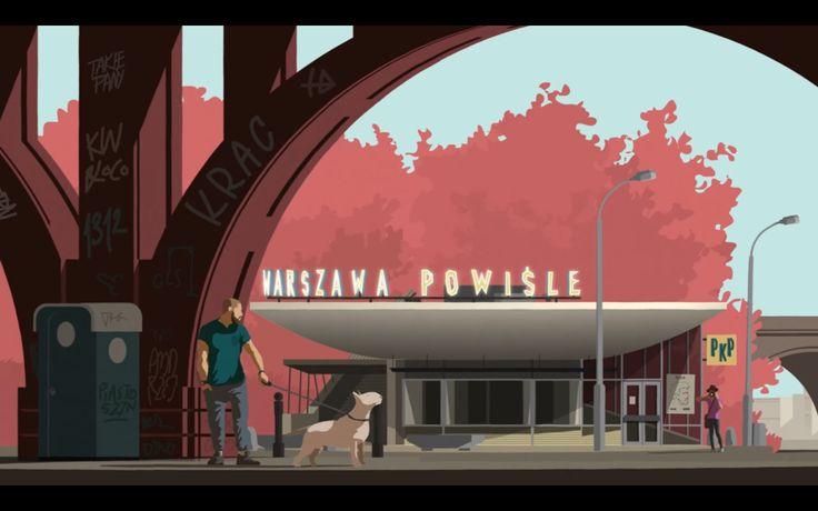 Illustration from the music clip Deszc na betonie - Taco Hemingway (Polish Rap) Made by Takie Pany
