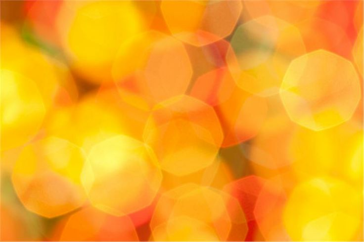 Abstract bokeh in orange and yellow by sbayram