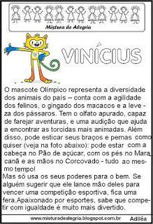 Jogos olímpicos 2016, mascote Vinícius