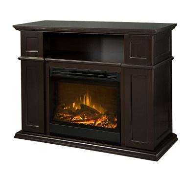 The Everik fireplace console is designed to fit flat panel televisions up to 52 inches. #ilovetoshop