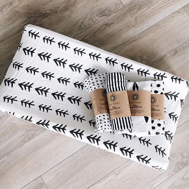 Modern Burlap CHANGING PAD COVERS! Available in eight of Modern Burlap's signature black and white prints, these changing pad covers are the perfect addition to any Modern Burlap collection.