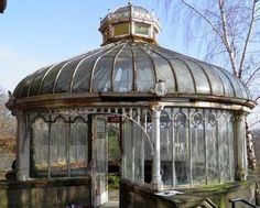 Abandoned Victorian greenhouse. I would be looking for these for my home. Refurbish and bring it back to life!!