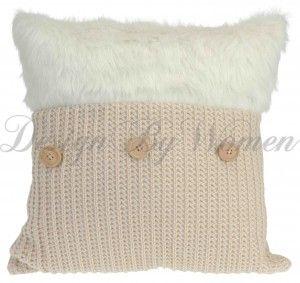 Poduszka Winter kremowa