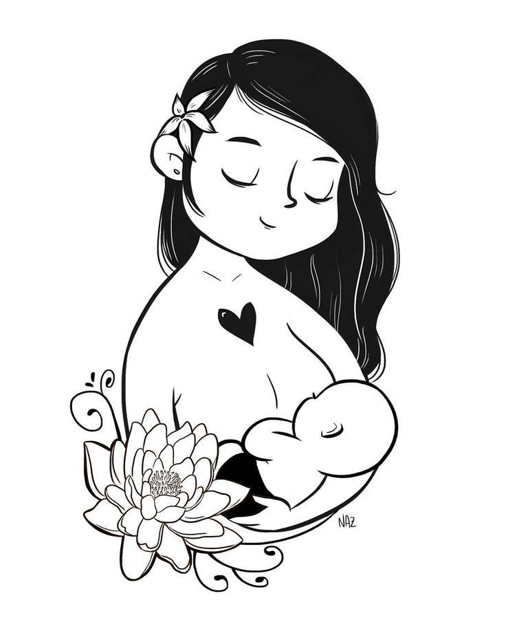 "OH NAZ on Instagram: ""OH NAZ x BUTT Talks collab. #illustration #drawing #breastfeeding #normalizebreastfeeding #baby #clothdiapers #clothdiapersph #lotus"""